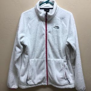 The North Face Jacket, XL, White & Pink
